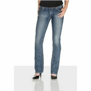 Maurices straight leg jeans thick stitch